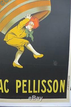 AFFICHE ORIGINALE LITHOGRAPHIQUE CAPPIELLO COGNAC PELISSON entoilée bon état