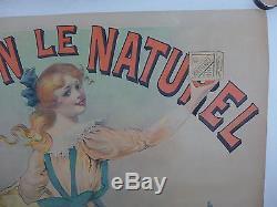 AFFICHE ORIGINALE LITHOGRAPHIQUE c 1900 SAVON LE NATUREL par PAL entoilée BE
