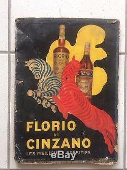 Affiche Originale Litho De 1930 Par Cappiello. Florio Et Cinzano. Imp. Devambez
