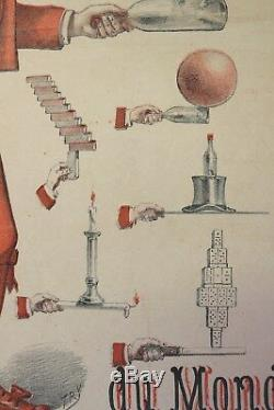 AFFICHE ORIGINALE POSTER CIRCUS CIRQUE WERLY illusionnisme jonglerie Séte Cette
