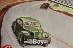 AFFICHE ORIGINALE POSTER MOTUL bidon d'huile 1951 supra penn Bobigny litho