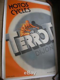 Affiche Originale Terrot Motos Cycles