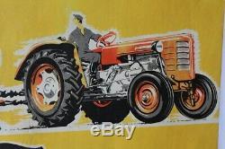 AFFICHE ORIGINALE tractor TRACTEUR ZETOR poster éléphant BRNO ZEmdlský trakTOR