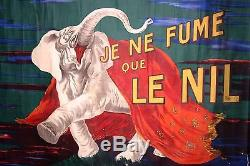 AFFICHE ORIGINALE vers 1910 Leonetto CAPIELLO Je ne fume que le nil