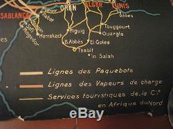 AFFICHE PAQUEBOT ILE DE FRANCE OCEAN PACIFIQUE