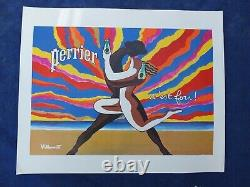 AFFICHE PERRIER Le Couple dansant , de VILLEMOT / ORIGINAL de 1980