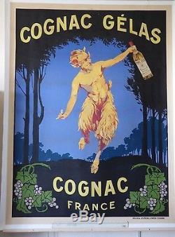 Affiche Publicitaire Originale Cognac Gelas