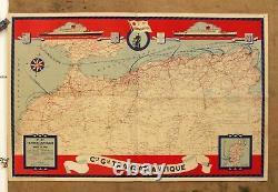 AFFICHE PUB Cie Gle Transatlantique Ville d'Alger Ville d'Oran. Années 50