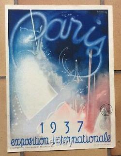 AFFICHE PUB Paris Exposition Internationale 1937