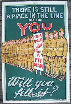 Affiche Ww1 Vintage Poster There Is Still A Place In The Line For You C 1915
