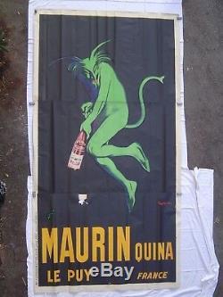 AFFICHE lithographie original MAURIN QUINA / LE PUY / illustration CAPPIELLO