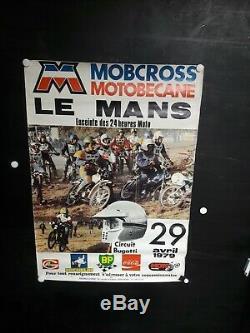 AFFICHE moto MOBCROSS LE MANS 1979