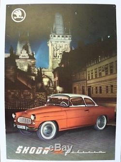 AFFICHE originale GARAGE POSTER SKODA FELICIA 1959-64 eská republika Volkswagen