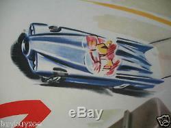 AFFICHE radio RADIOMATIC USA GM DREAM CAR POSTER 1957 sign DUMONT like GEO HAM