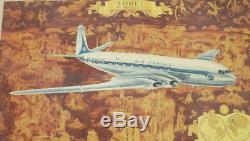 AIR FRANCE ANCIENNE AFFICHE F-BGAT 1951 COMET DE HAVILLAND Lucien Boucher