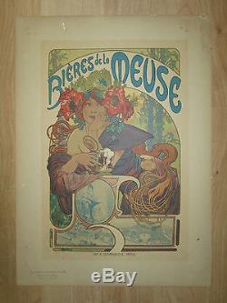 ALPHONSE MUCHA Maitres de l'affiche planche 182 biere de la meuse de 1899