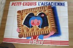 ALSACIENNE PETIT EXQUIS hervé morvan affiche publicité originale 320x240 cm'61