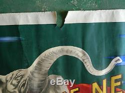 ANCIENNE AFFICHE CAPPIELLO JE NE FUME QUE LE NIL ELEPHANT