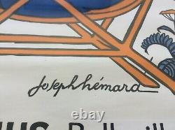 ANCIENNE AFFICHE LITHO ORIGINALE ANIS LA COMETE Joseph HEMARD 60 x 80 CM 1925