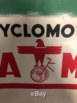 ANCIENNE affiche CYCLOMOTEUR RIVA MILAN JJ GILET IMP LAFAYETTE 60x80 VICHY