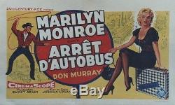 ARRÊT D'AUTOBUS (BUS STOP) Affiche belge entoilée (Marilyn MONROE, Don MURRAY)