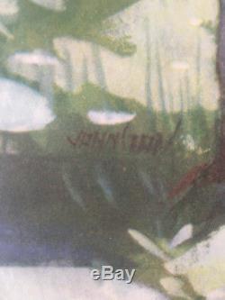 AUSTIN HEALEY 100 Six Affiche originale vers 1950 signée