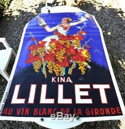AUTHENTIQUE Affiche ancienne originale KINA LILLET (LILET) ROBY 1937 200 X 130