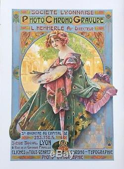 Affiche 1900 par Gaspar CAMPS Société Lyonnaise de Photo Chromo Gravure / Lyon