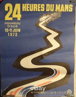Affiche 24 H Du Mans Automobile Course
