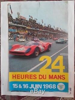 Affiche 24 heures du mans 1968