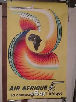 Affiche Air Afrique Graphisme Couleur Jet 1963