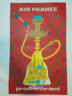 Affiche Air France Proche Orient par Eric 1960 Old Air France's poster
