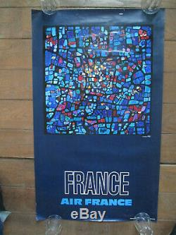 Affiche Air France Raymond Pages France 100 x 60 cm
