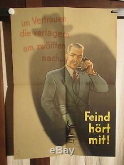 Affiche Allemagne Anti-espionnage Periode 39/45