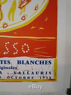 Affiche Ancienne 1958 de PICASSO pour le Musee de CERET imprimerie ARNERA