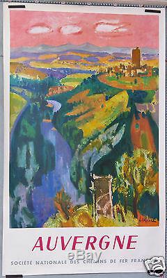 Affiche Ancienne 1959 Sncf Auvergne Vintage Travel Poster France