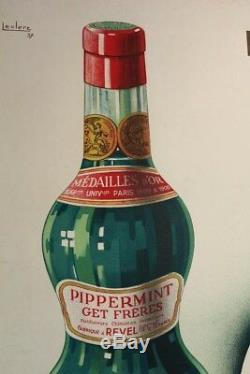 Affiche Ancienne Alcool Get 27 Pippermint 1937 Revel Haute Garonne 31 J. Leclerc
