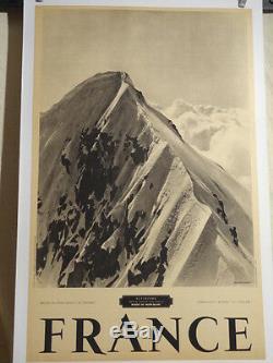 Affiche Ancienne Alpinisme Mont-blanc Photo