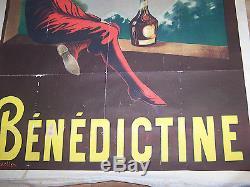 Affiche Ancienne Bar Café Liqueur Benedictine Cappiello Circa 1907 129 X 198 CM
