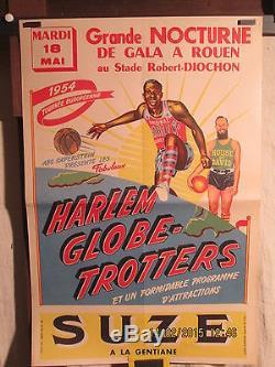 Affiche Ancienne Basket Ball Harlem Globe/ House Of David Rare