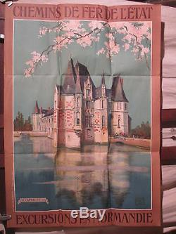 Affiche Ancienne Chateau D'o Orne Normandie