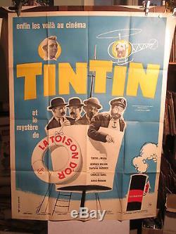 Affiche Ancienne Cinema Tintin Et La Toison D'or