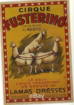 Affiche Ancienne Cirque Fusterino Lamas Dresses Harford