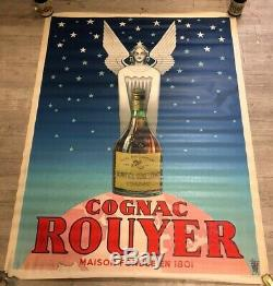 Affiche Ancienne Cognac Rouyer