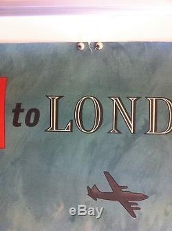 Affiche Ancienne Compagnie Aérienne BEA British European Airways