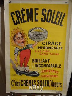 Affiche Ancienne Creme Soleil Cirage Angers