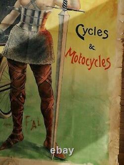 Affiche Ancienne Cycles Et Motocycles Liberator Circa 1900 Pal Clouet