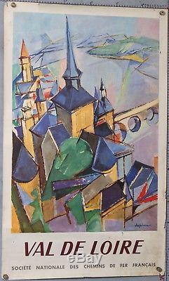 Affiche Ancienne Despierre France Val De Loire Sncf 1963