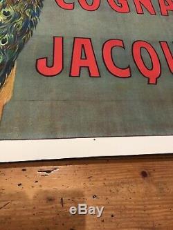 Affiche Ancienne Entoilee Cognac Jacquet