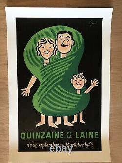 Affiche Ancienne Entoilee Quinzaine Raymond Savignac (1952)